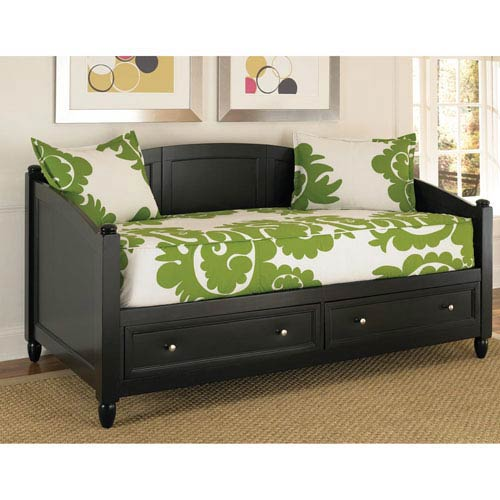 Home Styles Furniture Bedford Black Storage Daybed