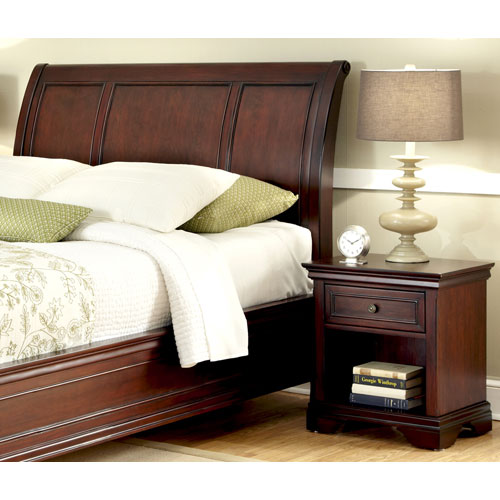 Lafayette King and California King Sleigh Headboard, Night Stand, and Chest