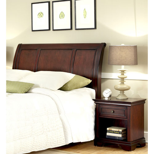 Lafayette Queen and Full Sleigh Headboard and Night Stand