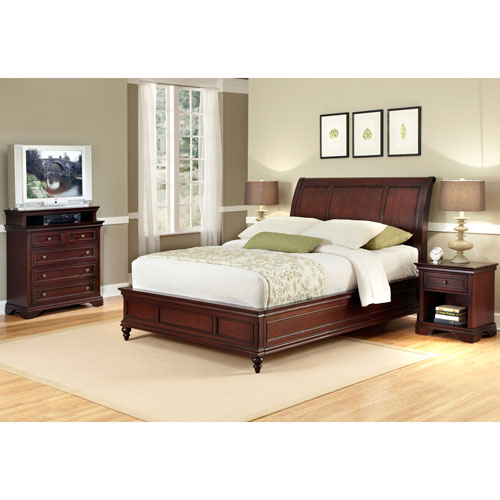 Lafayette Queen Sleigh Bed, Night Stand, and Chest
