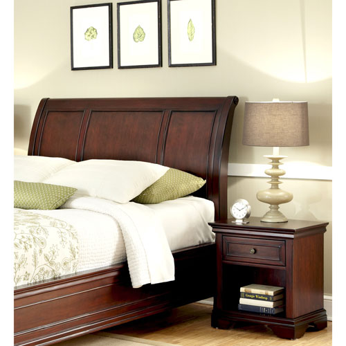 Lafayette King and California King Sleigh Headboard and Night Stand