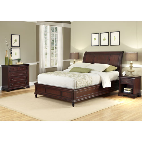 Lafayette King Sleigh Bed, Night Stand, and Chest