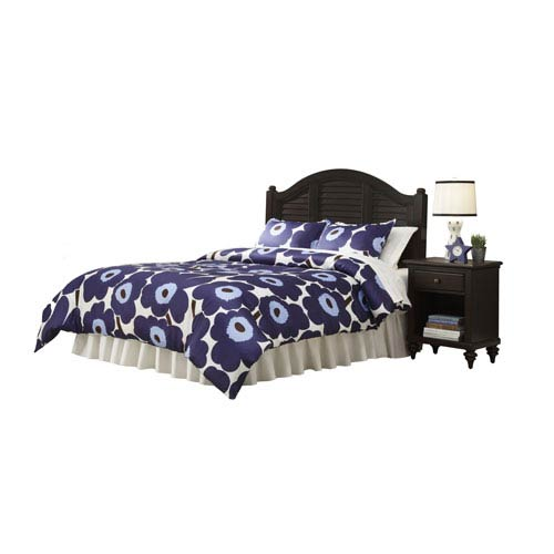 Home Styles Furniture Bermuda Espresso 53.5-Inch King Headboard and Night Stand