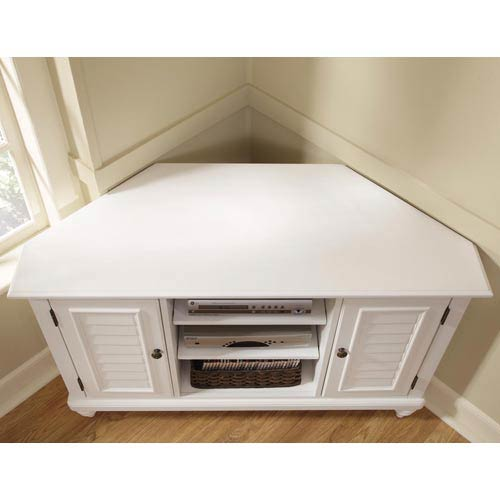 Home Styles Furniture Bermuda Textured Brushed White Corner Tv Stand 42017543 07 1 2 3