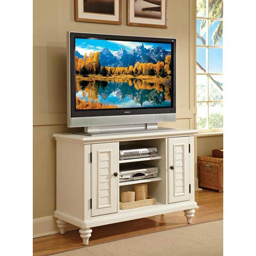 Bermuda Textured Brushed White TV Stand