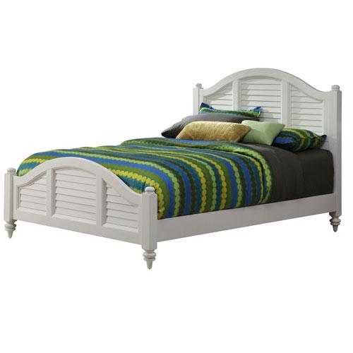 Bermuda Brushed White 53.5-Inch King Bed