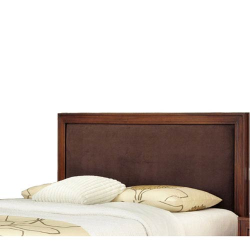 Home Styles Furniture Duet King and California King Panel Headboard Brown Microfiber Inset