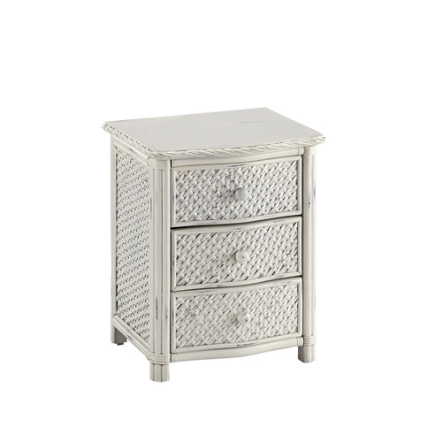 Home Styles Furniture Marco Island Weather-Worn Rubbed White Night Stand