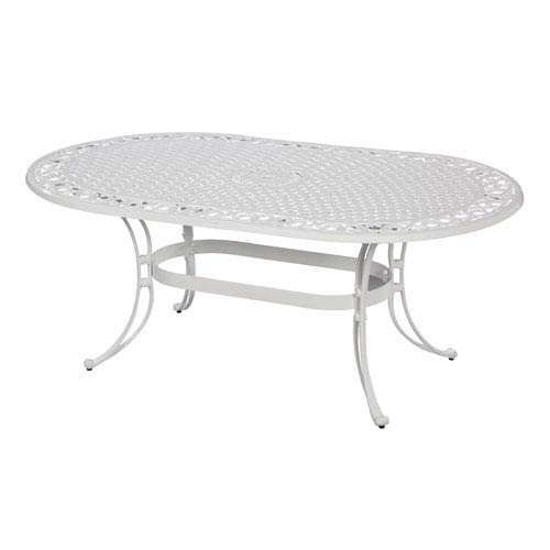 Biscayne White 72-Inch Oval Dining Table