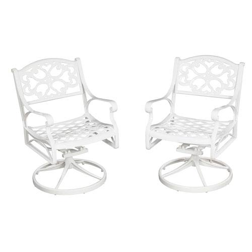 Biscayne White Swivel Chair