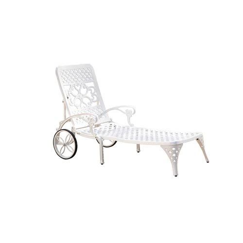 Home Styles Furniture Biscayne White Chaise Lounge Chair