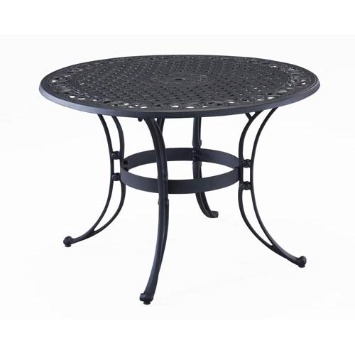Home Styles Furniture Black Inch Round Outdoor Dining Table - 30 inch round outdoor table