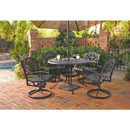 Home Styles Furniture Biscayne Black Five-Piece Dining Set