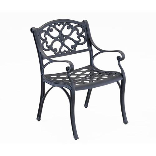 Biscayne Black Dining Chair, Pair