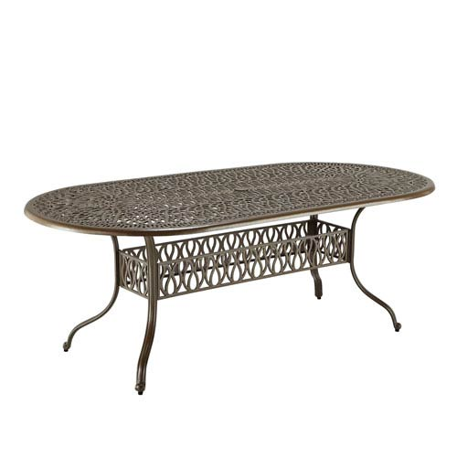 Home Styles Furniture Floral Blossom Taupe Outdoor Oval Dining Table