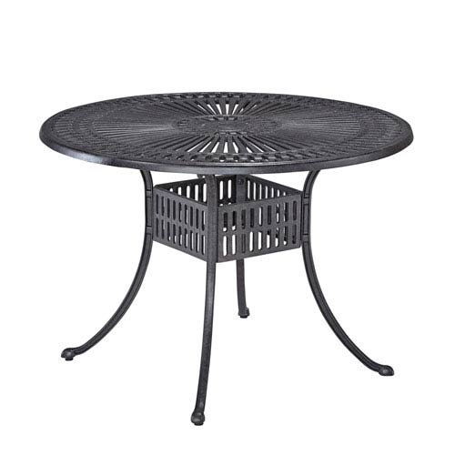 Home Styles Furniture Largo Charcoal 42 Inch Round Outdoor Dining Table