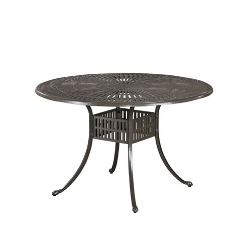 Largo Taupe 48.5-Inch Round Outdoor Outdoor Dining Table