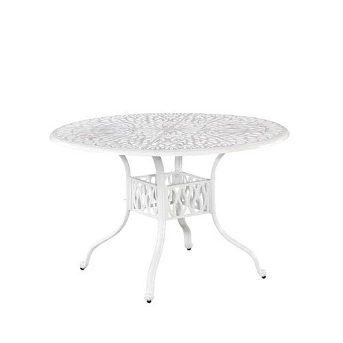 Home Styles Furniture Floral Blossom White Inch Round Outdoor - 48 inch outdoor table