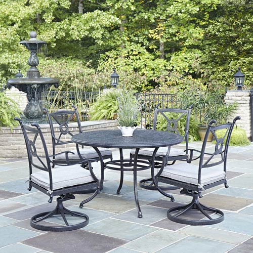 Athens Charcoal 48-Inch 5-Piece Outdoor Dining Set