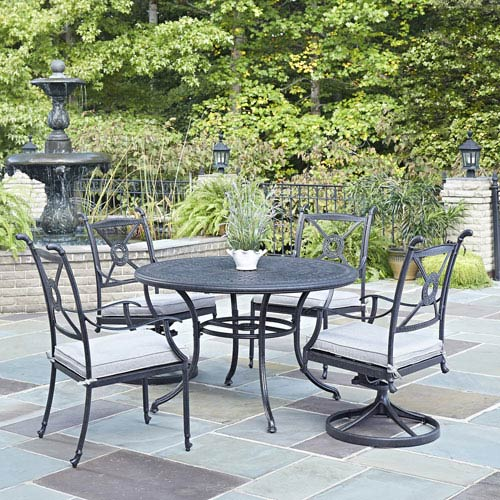 Home Styles Furniture Athens Charcoal Inch Piece Outdoor Dining - 48 inch outdoor table