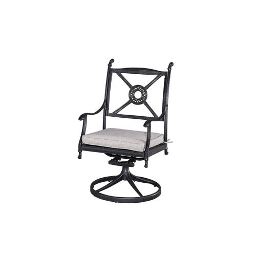 Athens Charcoal Outdoor Swivel Chair with Cushion