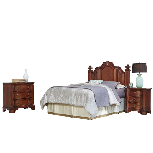 Santiago Cognac Queen/Full Headboard, Night Stand, and Chest