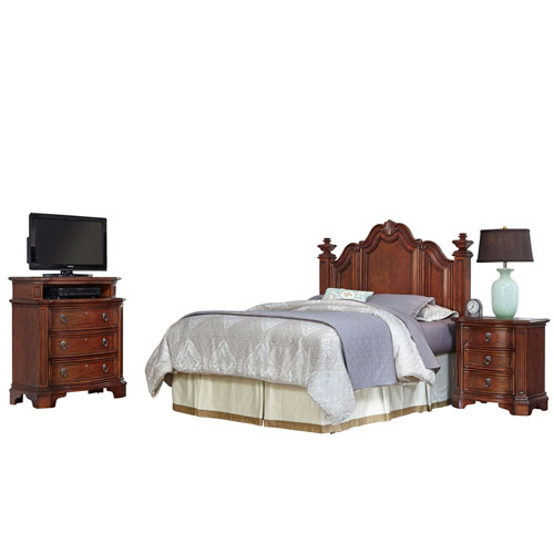 home styles bedroom furniture. Home Styles Furniture Santiago Cognac Queen/Full Headboard, Night Stand, And Media Chest Bedroom Y