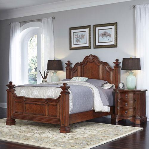 Santiago Cognac Queen Bed and Two Night Stands