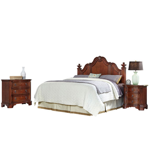 Santiago Cognac King/California King Headboard, Night Stand, and Chest