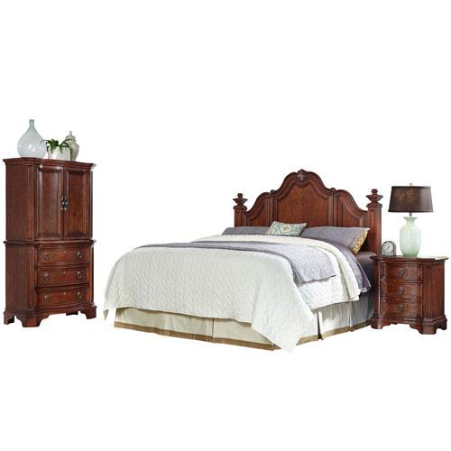 Santiago Cognac King/California King Headboard, Night Stand, and Door Chest