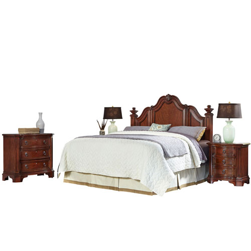 Santiago Cognac King/California King Headboard, Two Night Stands, and Chest