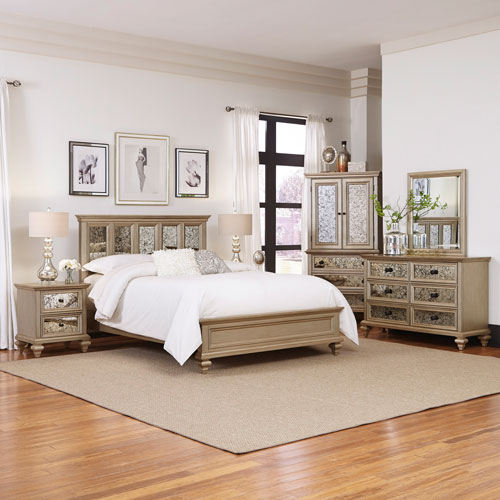 Home Styles Furniture Visions 5 Piece Queen Bedroom Set