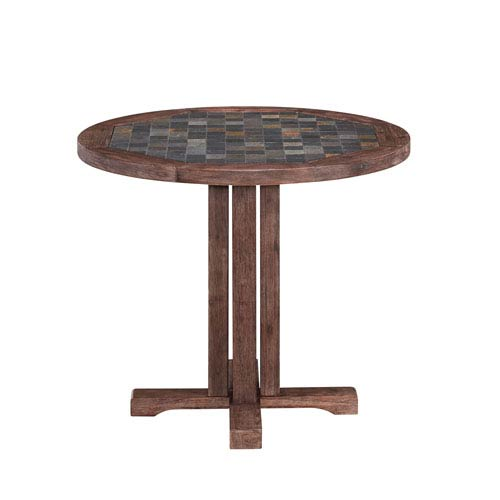Home Styles Furniture Morocco Slate 36 Inch Round Outdoor Dining Table