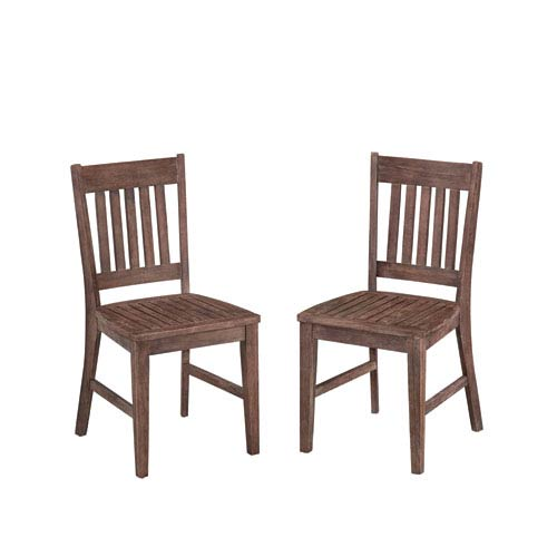 Morocco Wire Brushed Outdoor Side Chair, Set of 2