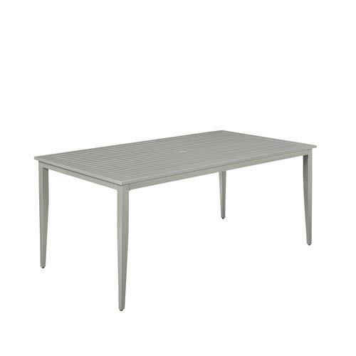 Home Styles Furniture South Beach Rectangular Outdoor Dining Table - White rectangular outdoor dining table