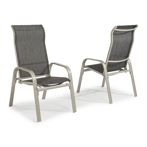 Home Styles Furniture South Beach Pair of Sling Arm Chairs