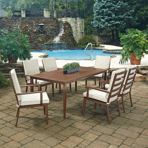Key West 7 Piece Rectangular Outdoor Dining Table and 6 Chairs