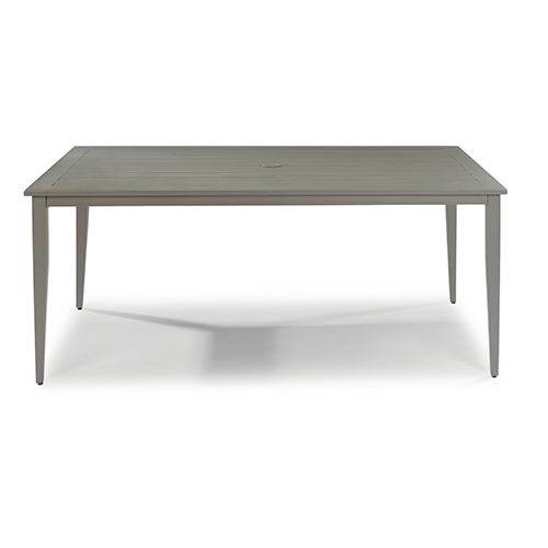 Home Styles Furniture Daytona Rectangular Outdoor Dining Table - White rectangular outdoor dining table