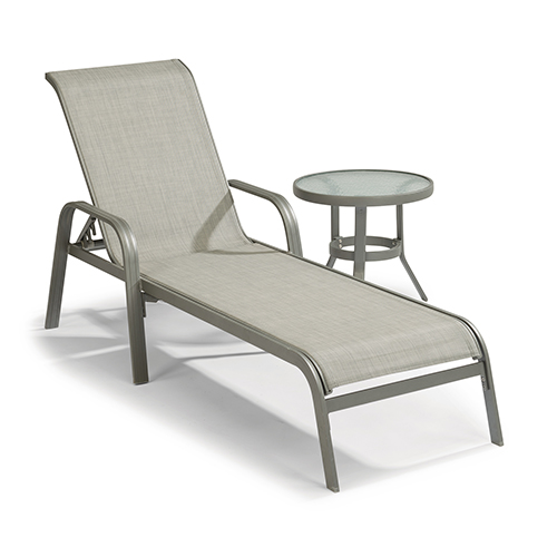 Home Styles Furniture Daytona Sling Seat Chaise and Accent Table