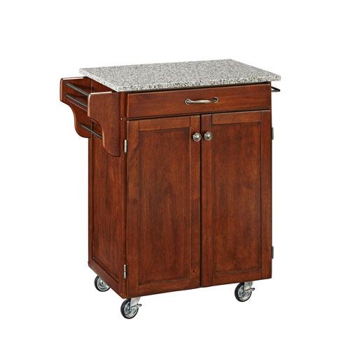Home Styles Furniture Cuisine Cart Cherry Finish SP Granite Top