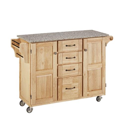 Home Styles Furniture Create-a-Cart Natural Finish SP Granite Top