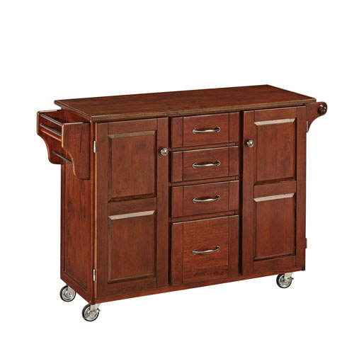 Home Styles Furniture Create-a-Cart Cherry Finish with Cherry Top