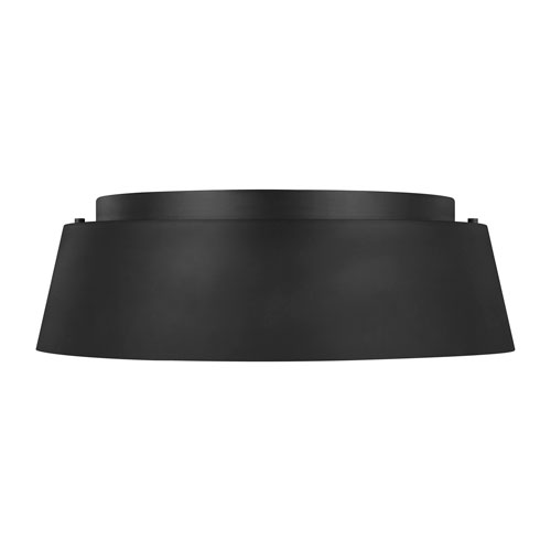 Asher Midnight Black Three-Light Flush Mount