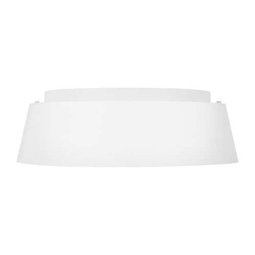 Asher Matte White Three-Light Flush Mount
