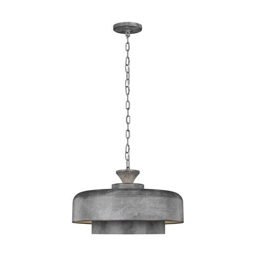 Haymarket Weathered Galvanized One-Light Pendant