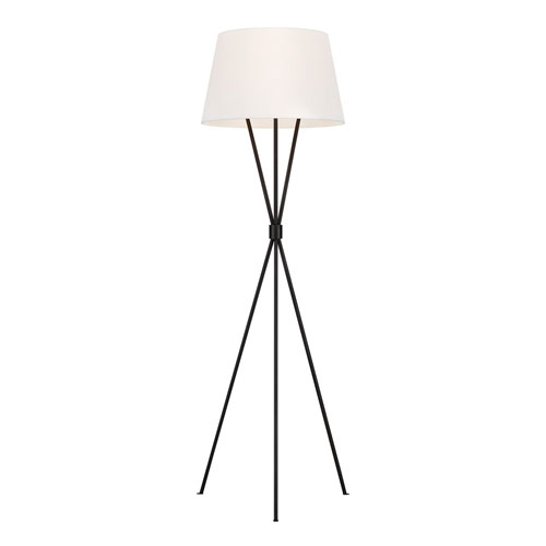 Penny Aged Iron LED Floor Lamp