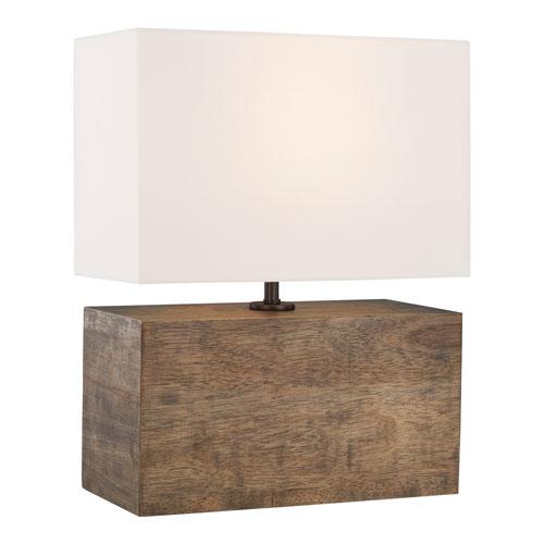 Redmond Weathered Oak Wood LED Table Lamp
