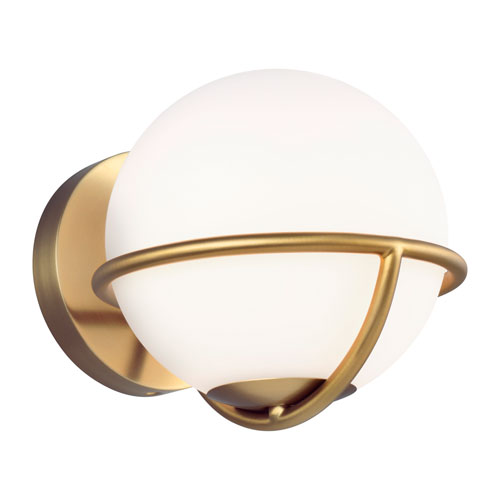 Apollo Burnished Brass One-Light Wall Sconce