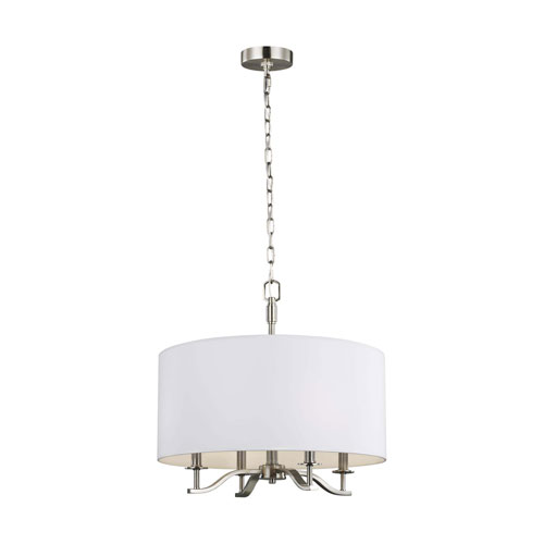 Hewitt Satin Nickel Four-Light Chandelier