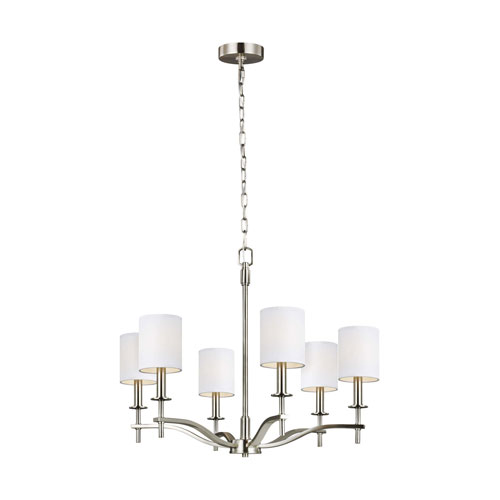 Hewitt Satin Nickel Six-Light Chandelier